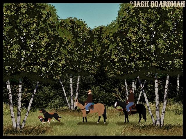 Boomer & Company exploring ©2012 Jack Boardman