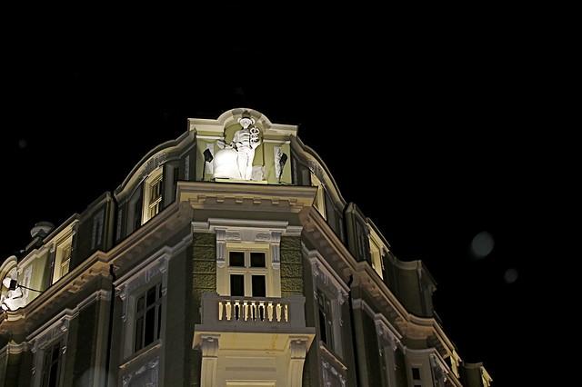 Nighttime stroll in Sofia