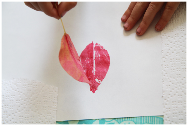 Fall leaf printing with kids