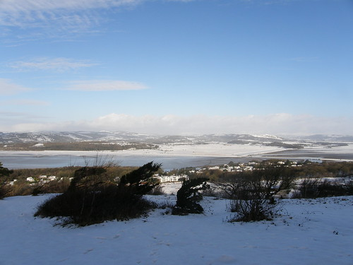 Across the estuary to Cartmell Fell and Whitbarrow Scar