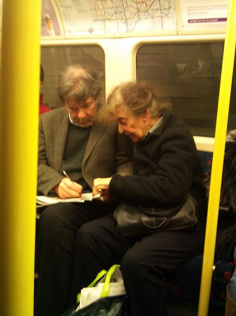 Crossword love on the tube