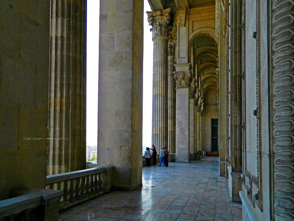 Balcony of Parliament Palace, Bucharest