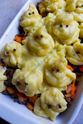 Parmentier boeuf et carottes d'Halloween / Halloween's Cottage Pie