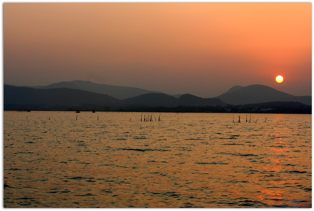 Sunset at Chilika Lake, Orissa