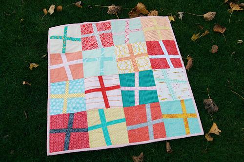 Baby Modern Cross Quilt