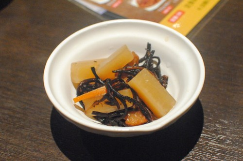 seaweed, daikon, fish cake cooked with soy and sugar