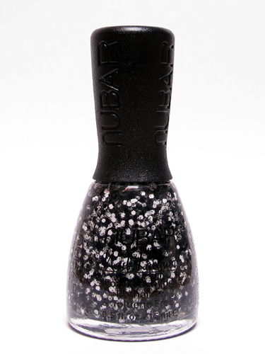 Quest for the perfect black and white glitter polish