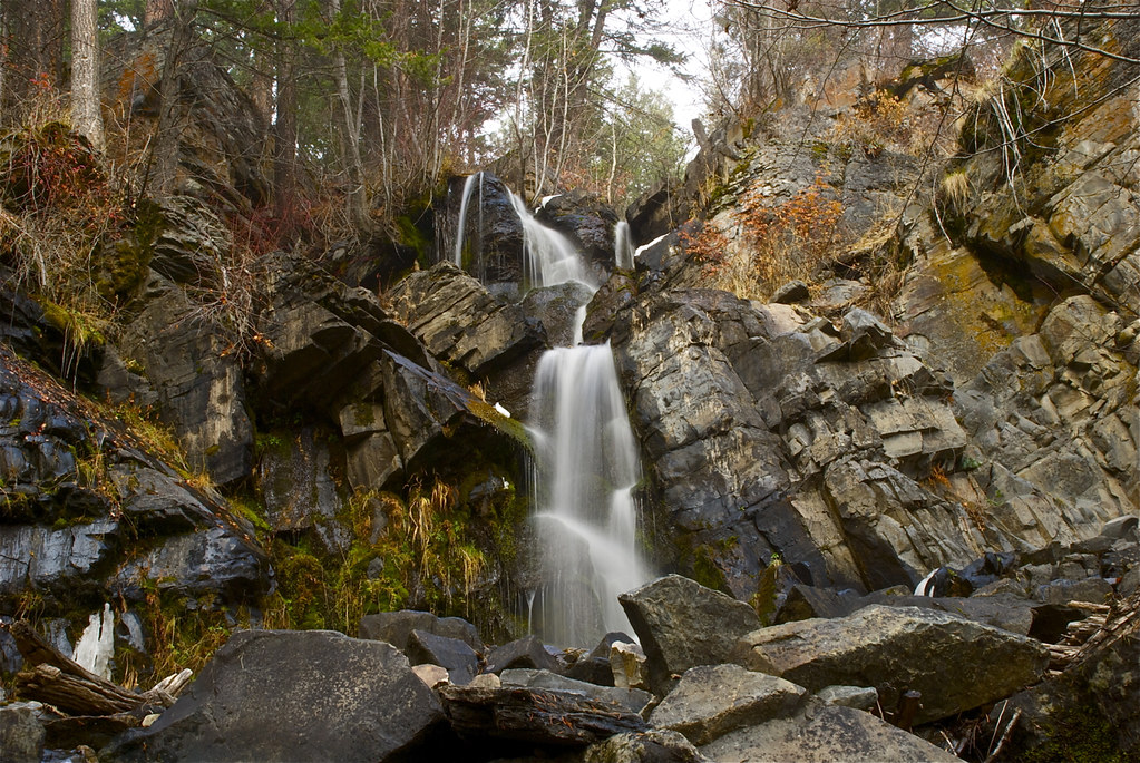 Waterfall at Rainbow Lake