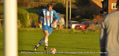 Cliffe FC 2ndXI 6 - 0 Bishop Wilton Reserves 17Nov12