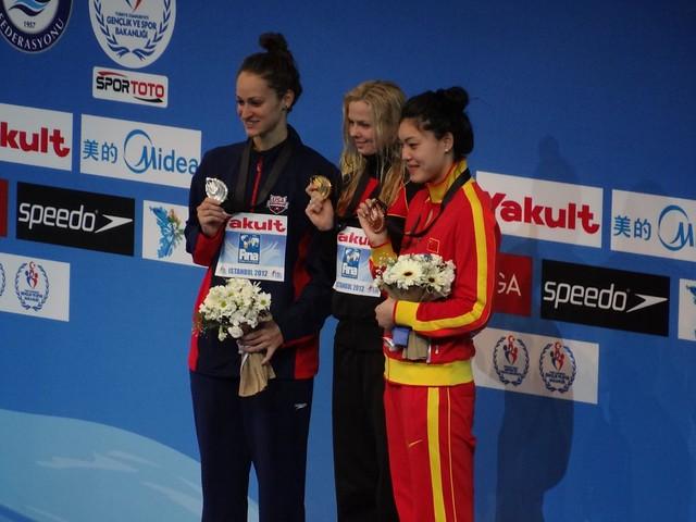 Istanbul 2012 Women's 100 Free Medal Winners