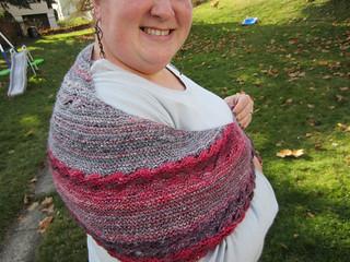 worn like a shawl