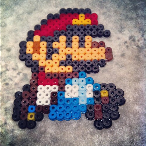 My daughter is pretty good at beading! #mario #supermario #beads