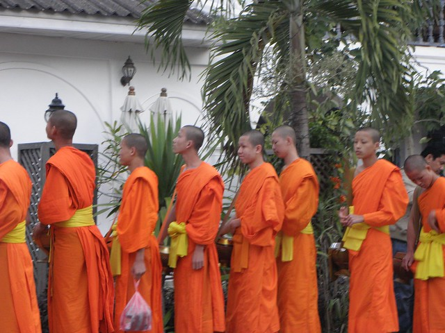 The Giving of Alms in Luang Prabang, Laos