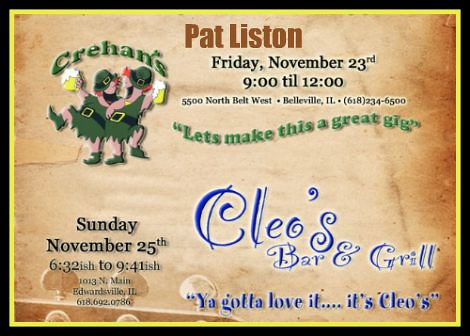 Pat Liston 11-23-12