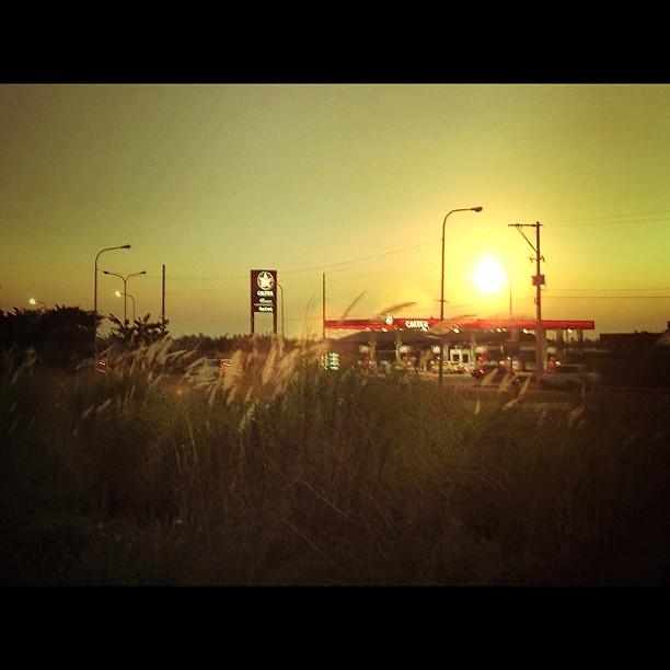 Highway sundown. @digiprint_ph #iphone4s #iphoneonly #awesomephotos #lensflare #manila #philippines #photographyeveryday #picoftheday #photooftheday #instamood #instago #caltex #cityscape #sunset #igersasia #instaphilippines #igersmanila #gf_philippines