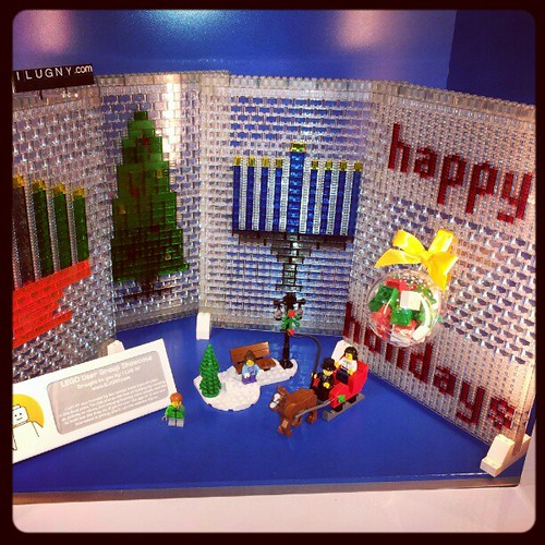 Here's our holiday display at the #LEGO store in West Nyack. Hope you get to see it! by brickplate