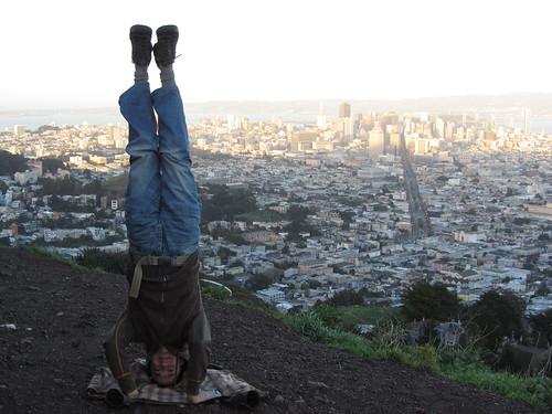 2. twin peaks headstand