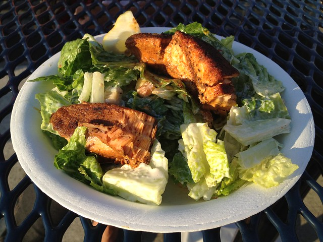 Blackened salmon caesar salad - Shilshole Bay Marina