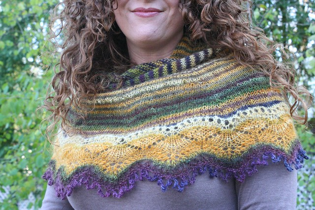 knitted :: handspun Cladonia