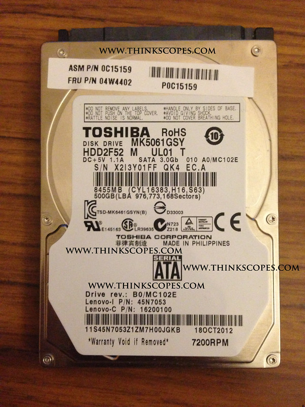 ThinkPad T430u Toshiba 500 gigs hdd