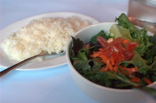 Rice & salad