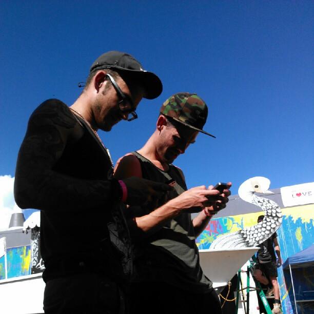 @fredifredfred and @robotkin getting digital at @fountainartfair
