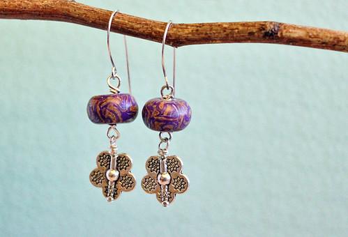 Flower boho earrings 5
