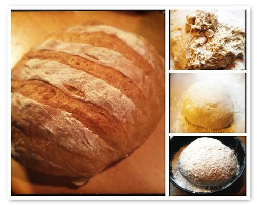 Brood zonder kneden met knapperige korst