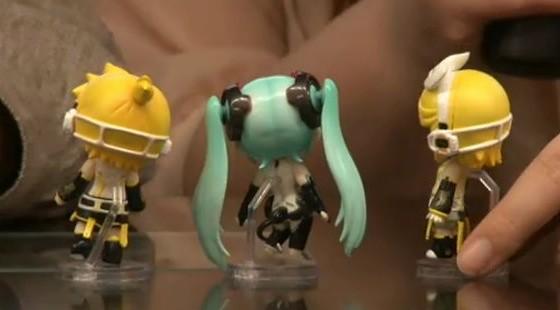 Nendoroid Petite Miku Rin Len Append set (rear view)