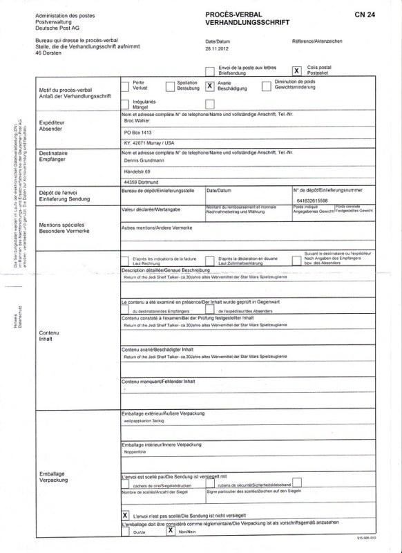 ROTJ Shelf Talker Accident Report @ www.home-of-boushh.com