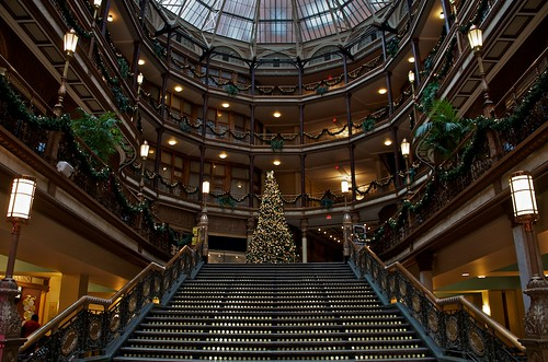 Christmas Tree @ Old Arcade (Cleveland, Ohio) by Don Iannone