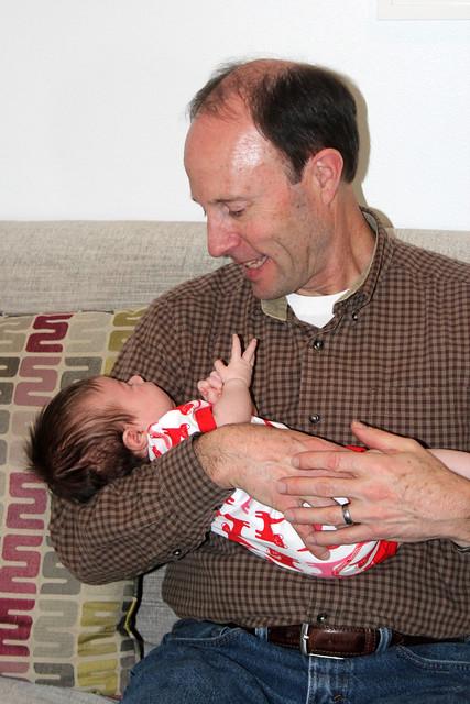 Grandpa meeting Harper