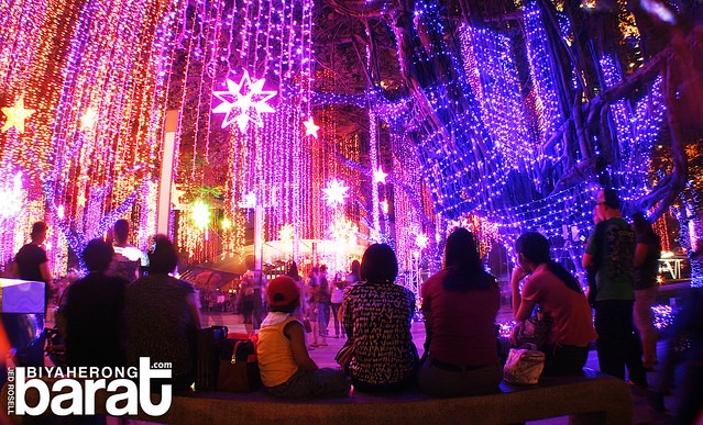 ayala triangle park christmas lights 2010