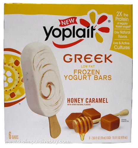 Yoplait Greek Frozen Yogurt Bars Honey Caramel Box