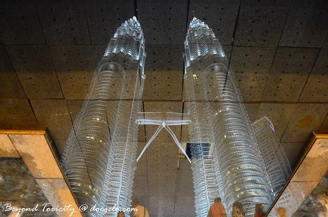 petronas twin towers on waters