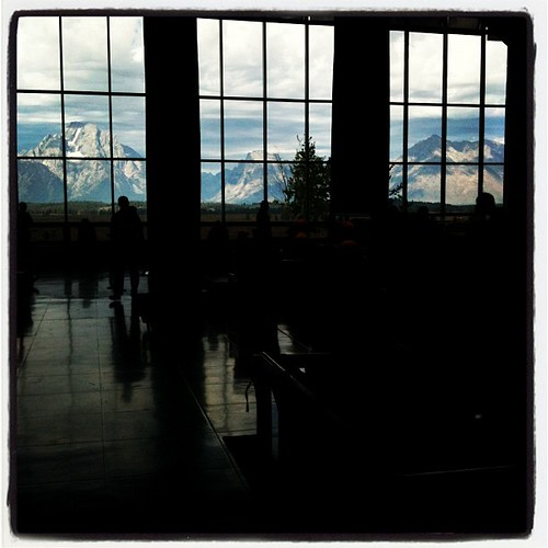 Lobby at Jackson Lake Lodge.