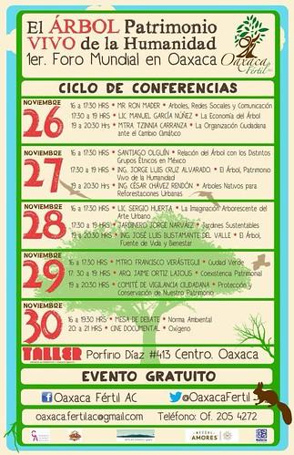 Ciclo de Conferencias Nov 26-30 @OaxacaFertil