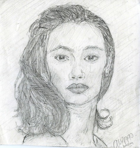 Old Drawings - Girl - 1990 by TempusVolat
