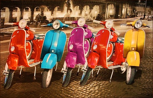 Vespas At Home In Rome