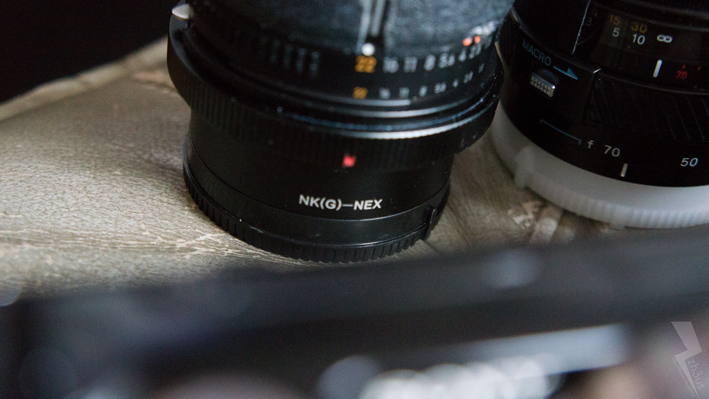 Nikkor AF-D 50mm f/1.8 + China Nik (G) -> NEX Adaptor