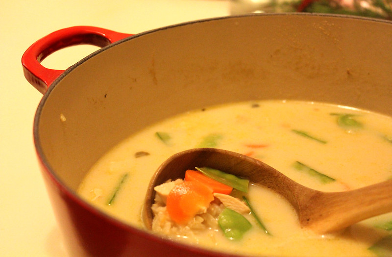 Thai Chicken Rice Soup 01