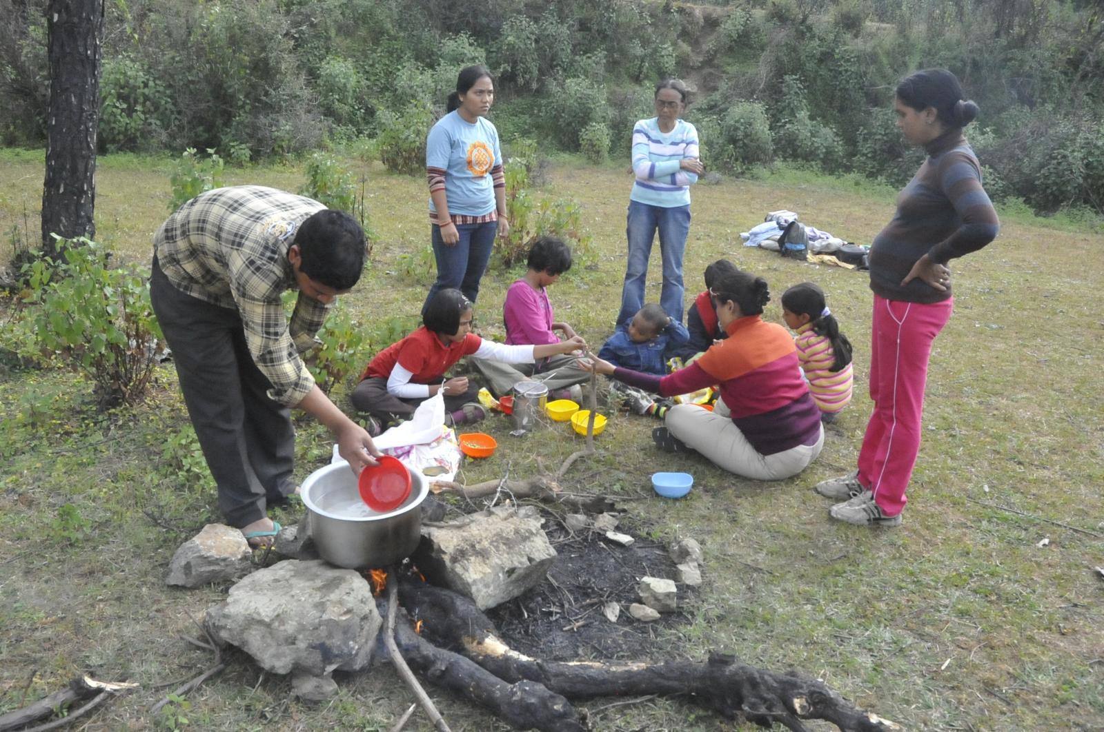 Emerald trail and Bhimtal - with Kasturi & Family, Payal & Family, Marina & Family, Indira & Family