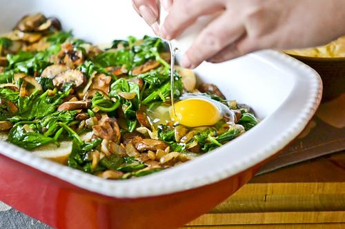 Mushroom-Spinach Baked Eggs 13
