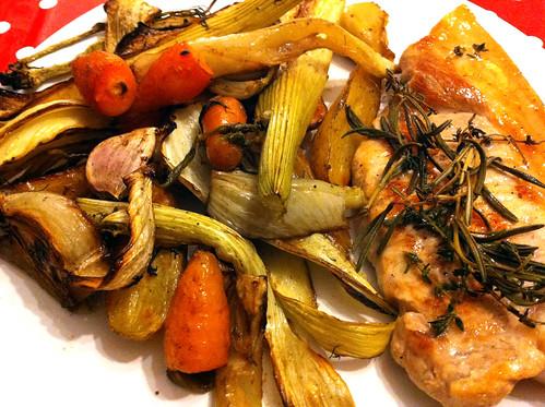 Pork chops with fennel and garlic 2