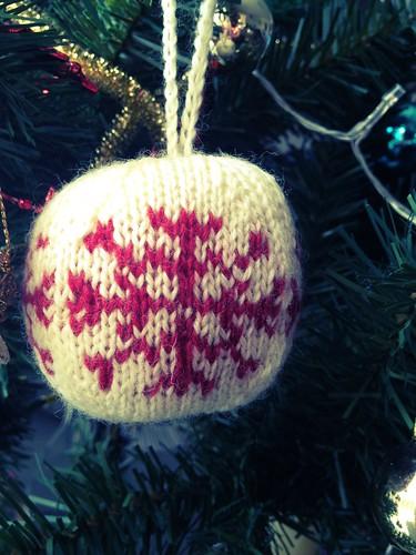 Icicle Christmas ball.