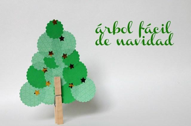 Manualidades Con Niños Un árbol De Navidad Fácil Baballa Un Blog