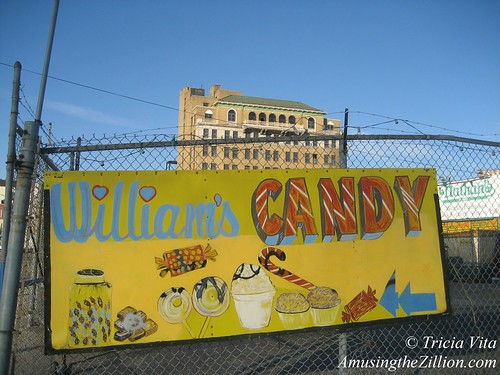Signage for Williams Candy