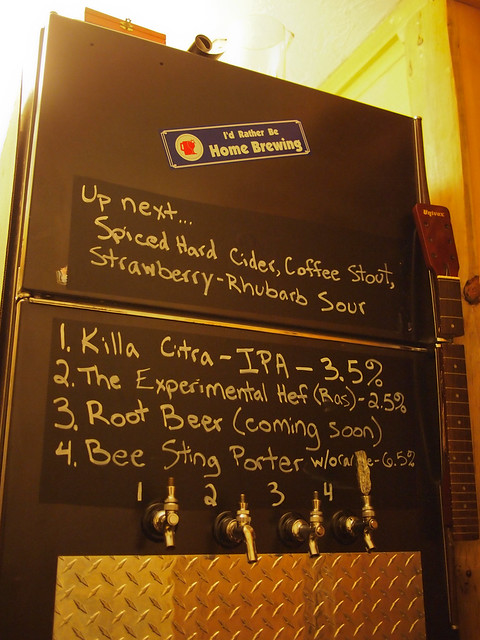 Kegerator now with Chalk Paper