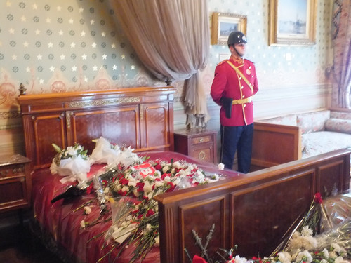 The bed where Atatürk died