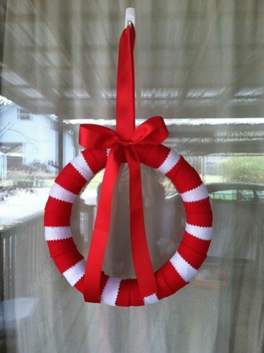 felt candy cane wreath 2012